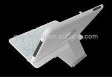 White 360 Degree Swivel Rotate Bluetooth Keyboard Stand Case Cover for Apple iPad Mini