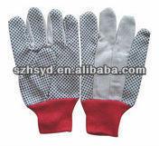 string knit pvc dot work gloves 100%cotton Polycotton 6OZ -12OZ string knit work glove en388