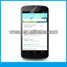 For google nexus 4 screen protector oem/odm (Anti-Glare)