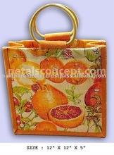 PP laminated jute gift bag with print