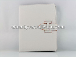 White Smart Cover Leather Case For ipad 3