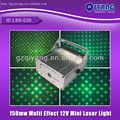 lss 020 150mw mini rojo y verde de luz láser mostrar 12v