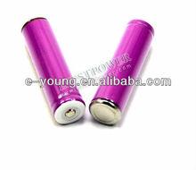 Sanyo18650 3.7v 3000mAh Li-ion lithium rechargeable purple Nipple protected battery PK Efest Purple 18650 2100mAH battery 30A