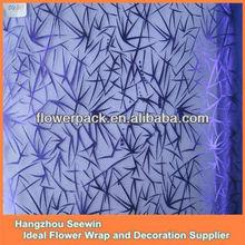 Classic metal print swirl printed organza fabric for sash ,table runner,flower