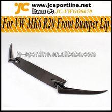 JC Style MK6 Car Lip MK6 R20 Front Bumper Lip Carbon Auto Car Spoiler for VW Golf VI R20 Bumper(three pcs)