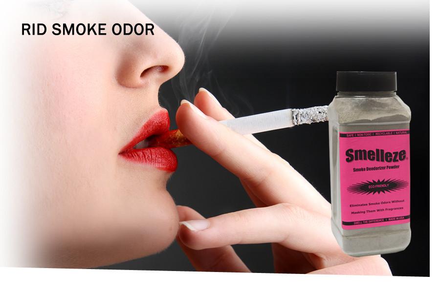 SMELLEZE Natural Ashtray Smell Remover Deodorizer: 2 lb. Granules Rids Smoke Stench