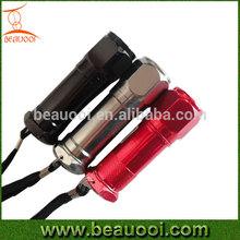 Cheap Screw head Aluminum LED Pocket Flashlight 9led