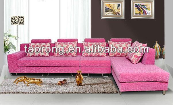 Sala De Estar Cor De Rosa ~ forma de madeira estofados sofá  cor de rosa sala de estar sofá de