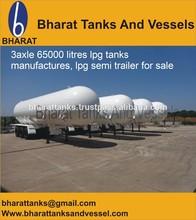 3axle 65000 litres lpg tanks manufactures, lpg semi trailer for sale