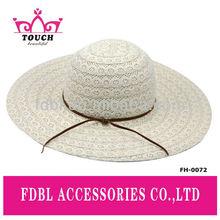 FH - 0072 Popular design ladies cotton crochet lace floppy hat