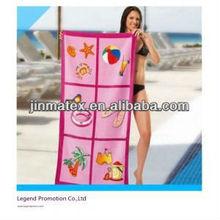 Microfiber printed beach towel for bath/sport