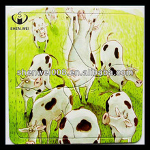 cartoon design jigsaw puzzl magnetic or paper puzzle
