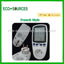 France style Energy meter Watt Voltage Volt Meter Monitor Analyzer power meter
