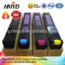 HMYD imaging supplies Compatible MX31 color toner cartridge for mx2600 mx3100