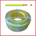 10 mm conductor de cobre con aislamiento de pvc de puesta a tierra cable