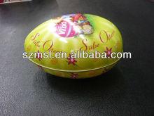 Egg tin box,egg shape box for cake packaging