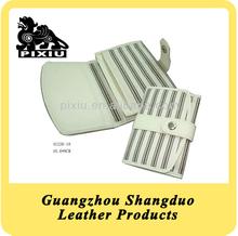 Delicate Leather Custom Women Business Card Holder Wallet