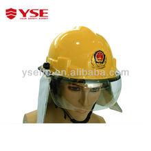 Yellow color mini cam sport helmet with flashlight