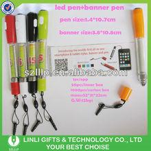 3 in 1 Custom Logo Led Keyring Banner Pen