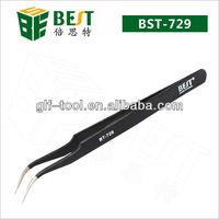 BEST-ESD Welding tweezers with curved tip