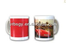 Cars Promotion Gifts Hot Water Color Changing Ceramic Mugs Magical Ceramic Mug