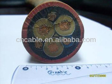 Rubber sheathed flexible mine cable