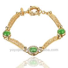 Latest green cat's eye zinc alloy magnetic bracelet 2013