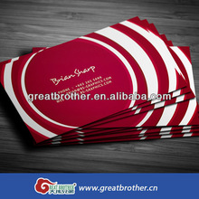 China wholesale customized business card printing/high quality cardboard business card