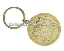 simple fashionable commemorative gold key chain