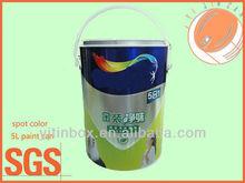 5L standard spot color hinge handle metal paint can