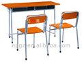 Mesa de estudio y una silla, escritorio doble y silla, venta al por mayor de suministros de la escuela