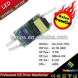 Promotion HG-2232-7953 LED driver 220V 3*1W