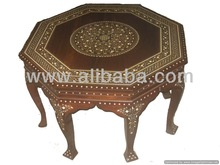 Octangle Coffee Table P/L Mughal Hand engraved