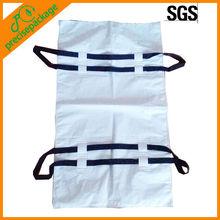 Waterproof white PEVA bio-degradable dead body bag (PRH-802)