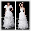 custom senior costoso chiodo tallone strofinando un grembo lungo abito da sposa stile