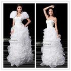 Senior custom costly nail bead wiping a bosom long style wedding dress