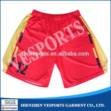 Antique design pink basketball team shorts uniforms