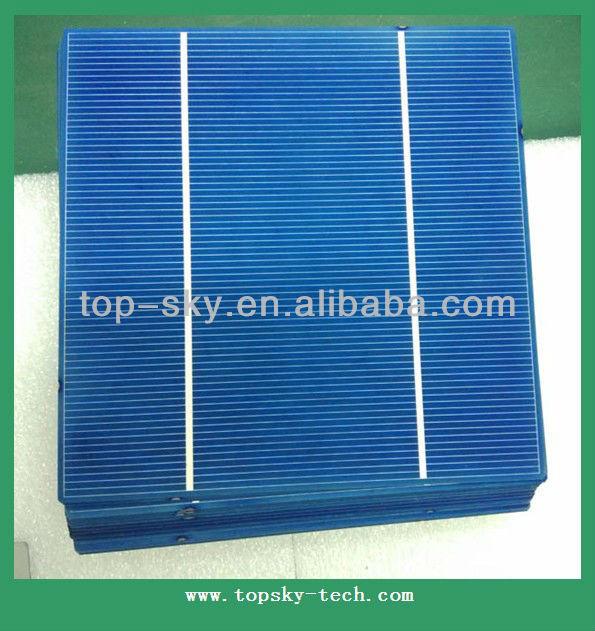 Taiwan brand 156mmx156mm multi-crystalline solar cell, 6inch 2BB high efficiency multi cell
