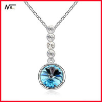 Free Shipping Simple Design Crystal Drop Pendant Arrowhead Necklace