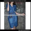2014 moda sıcak satış jean elbise bodycon elbise yazlık elbise