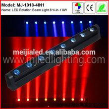 night club led rotating disco light 8x10W quad color rotating disco light