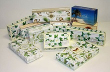 Italian soaps Gardenia and Coconut