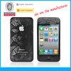 Mobile phone screen protectors 3d for iPhone 4s oem/odm (3D-Anti-Fingerprint)