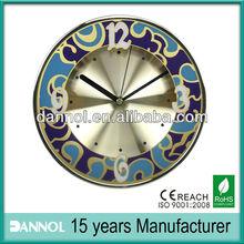 """12"""" Beautiful aluminum frame wall ladies clock"""