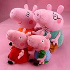 4 x Peppa Pig Family Plush Stuffed Toy Doll peppa pig plush
