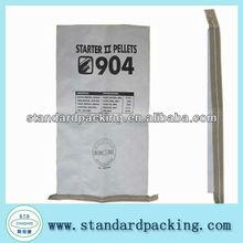 white kraft paper bag durable empty flour sack