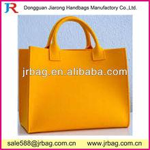 Yellow Stylish Polyester Felt Shopping Bags
