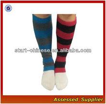 Cheap Fashion boot Leg Warmer / polyester promotion leg warmer / Stripe patterned leg warmer