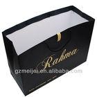 large size black art paper bag with matte lamination/gold hot stamp