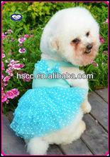 China wholesale summer white dot chiffon dog dress